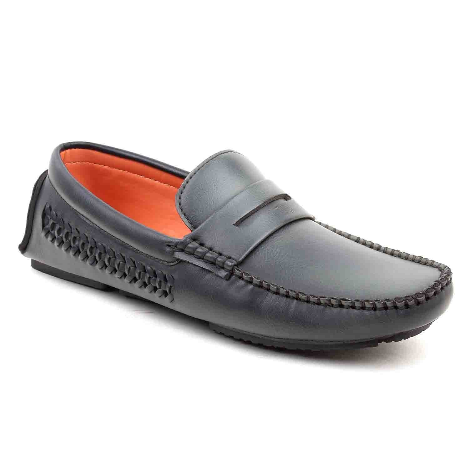 Leatherite-Shoes-Gray