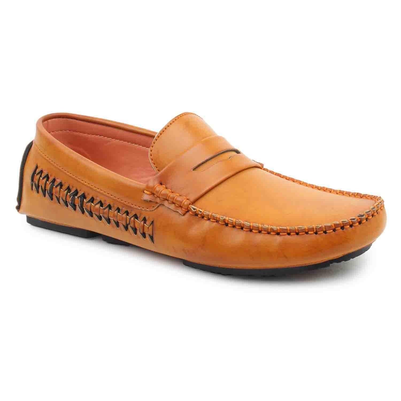 Leatherite Shoes Tan