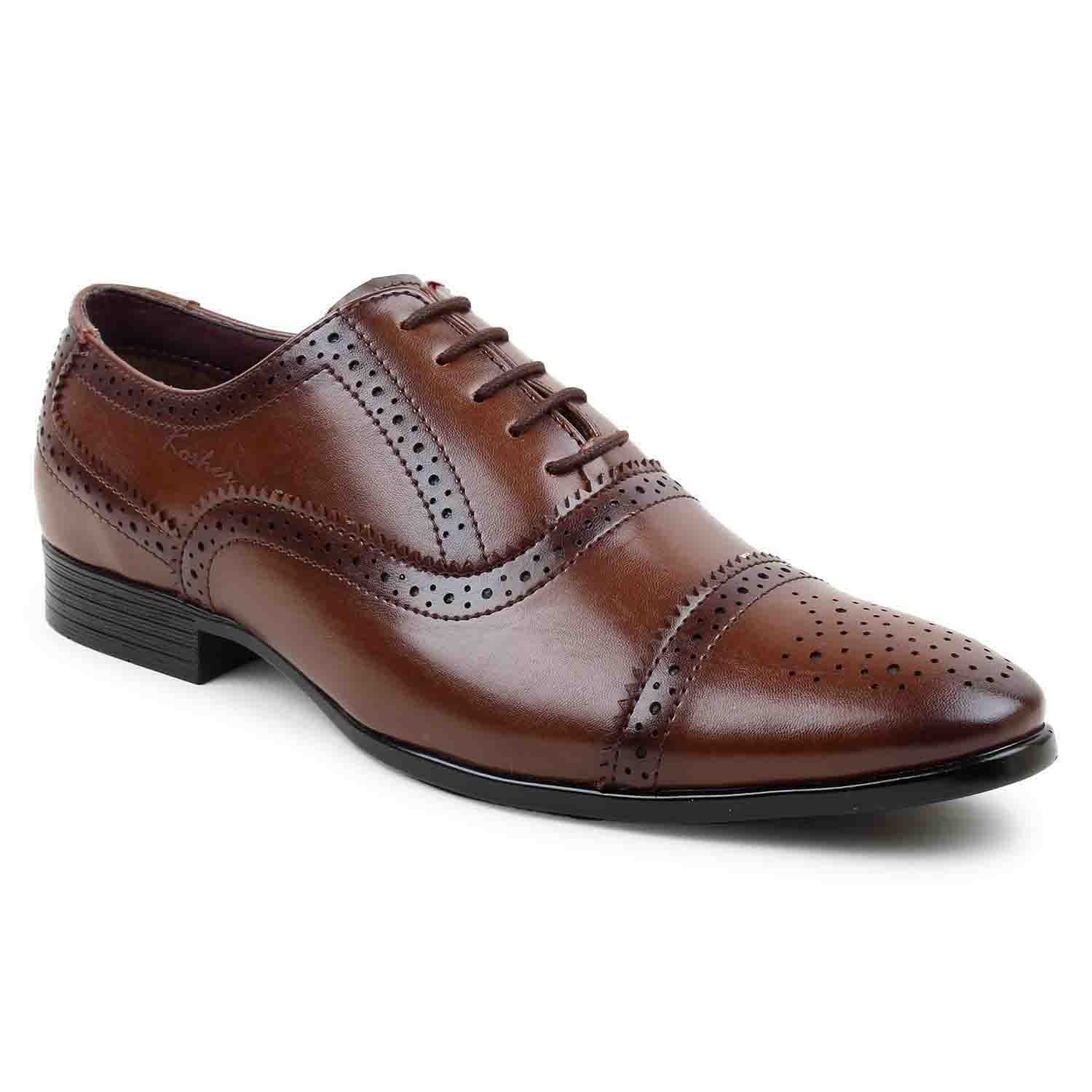 Leatherite-Shoes-Brown