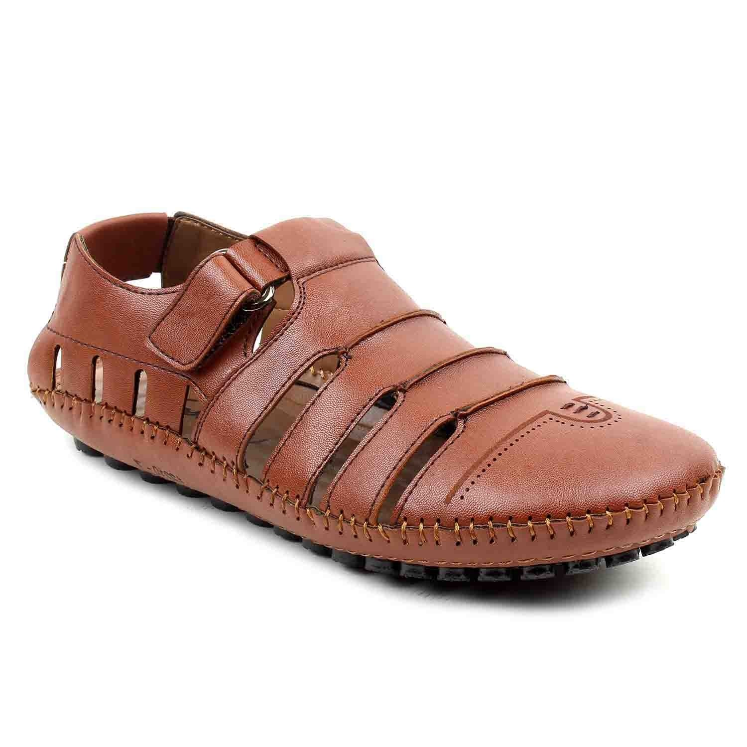 Leatherite Shoes Brown