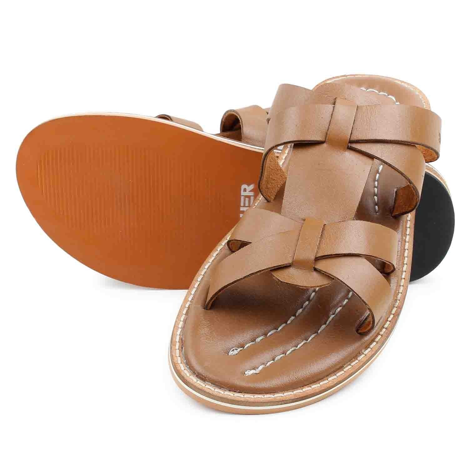 Sandal & Slipper-Brown