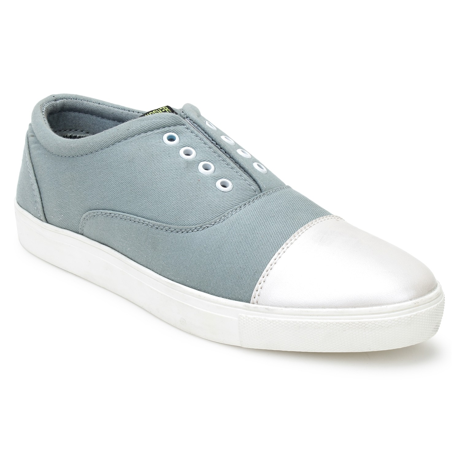 Leatherite Shoes Grey
