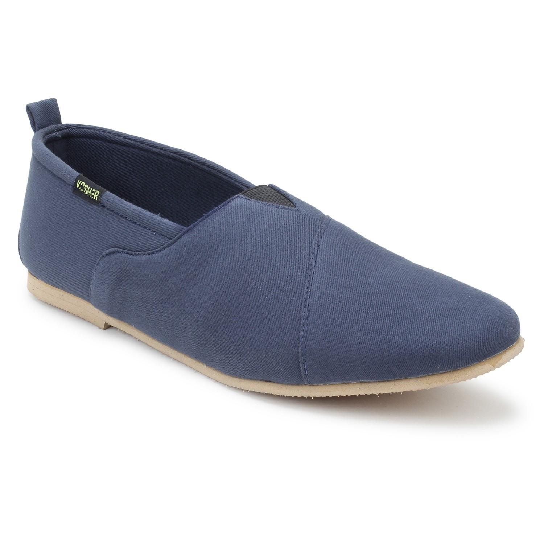 Leatherite Shoes Blue