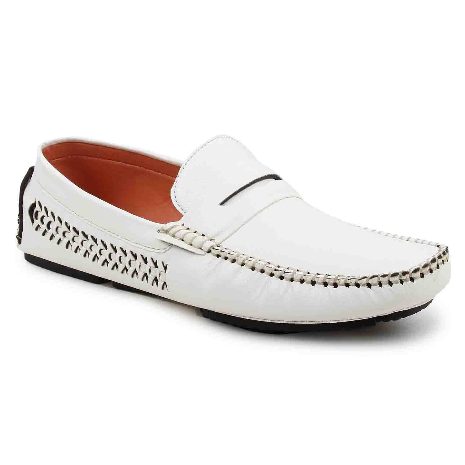 Leatherite Shoes White
