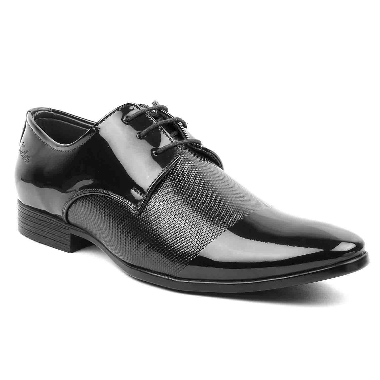 Leatherite Shoes P.Black