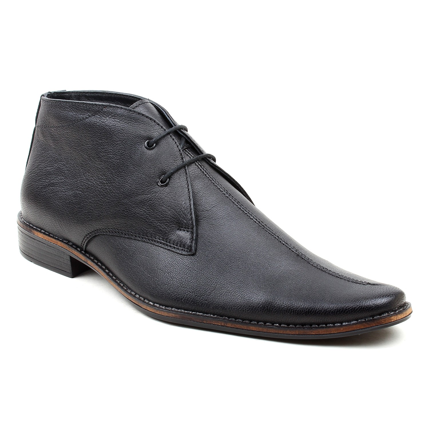 Leatherite Shoes Black