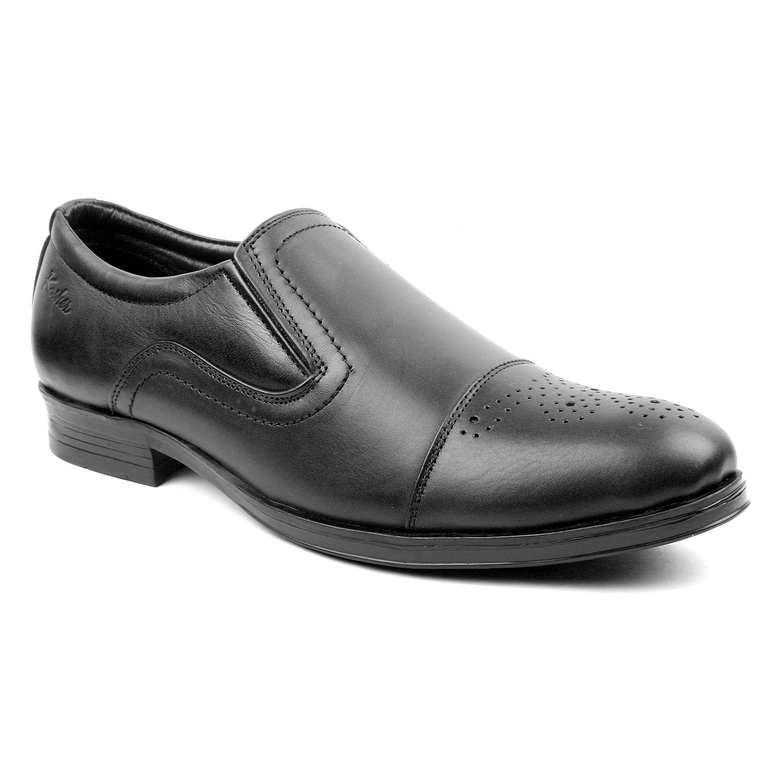 Kosher Leather Black Shoes Men