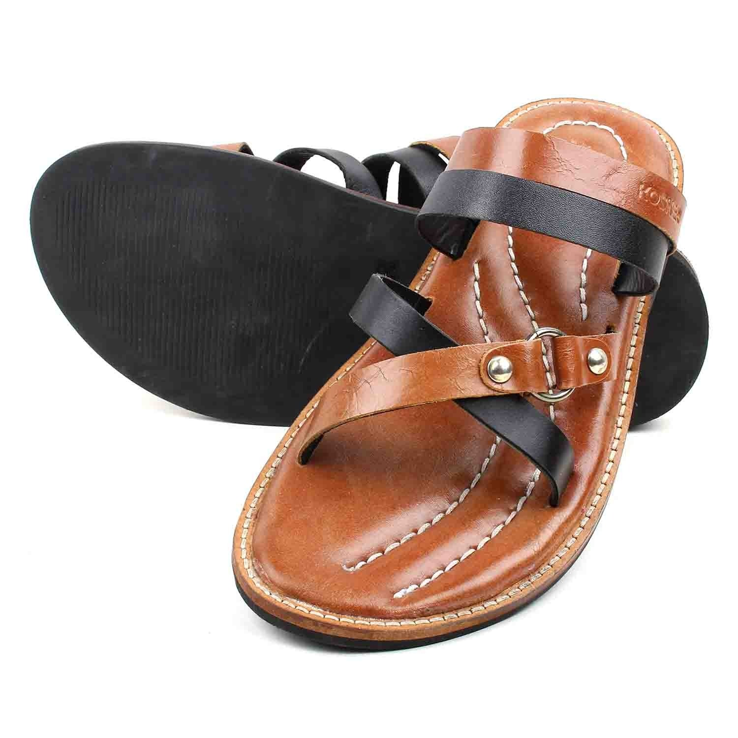 Sandal & Slipper Blk Tan