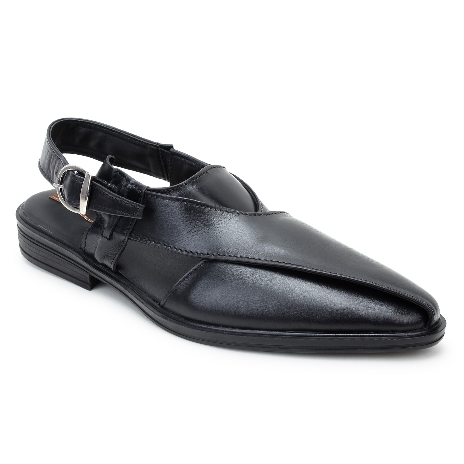 Kosher Leather Black Sandal Men