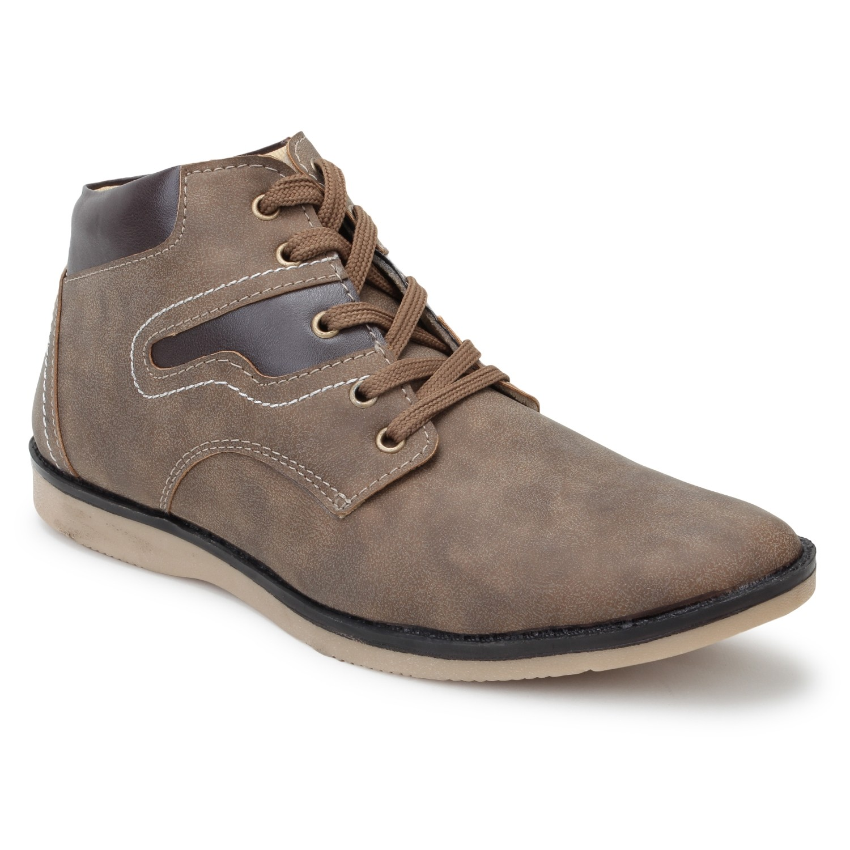 Kosher Leatherite Chickoo Shoe Men