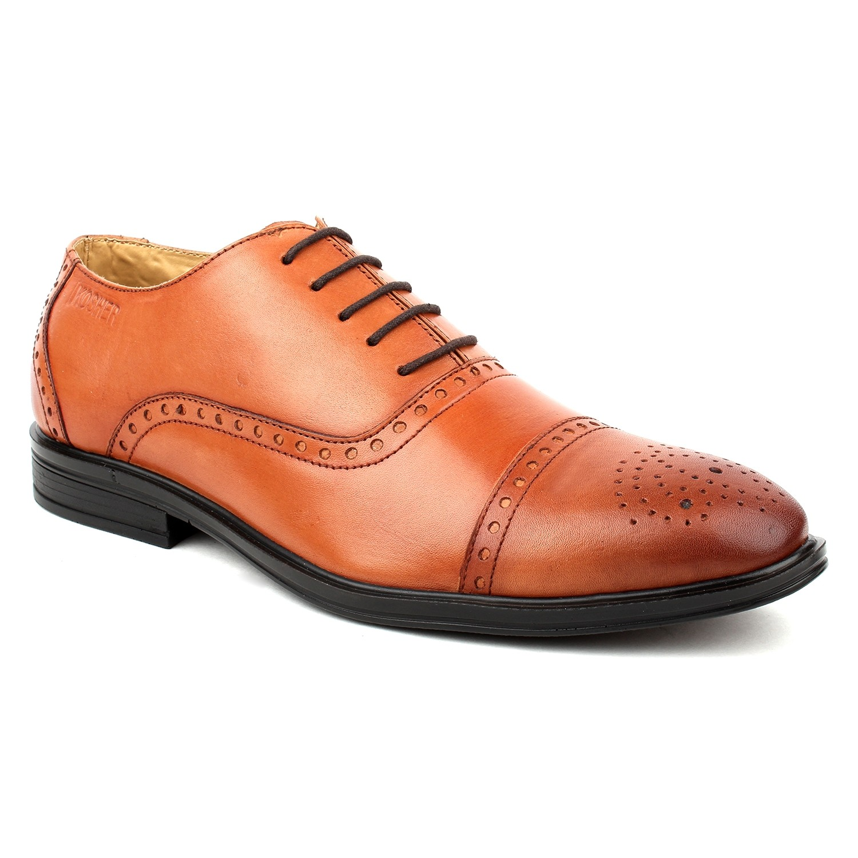 Kosher Leather Tan Shoes Men