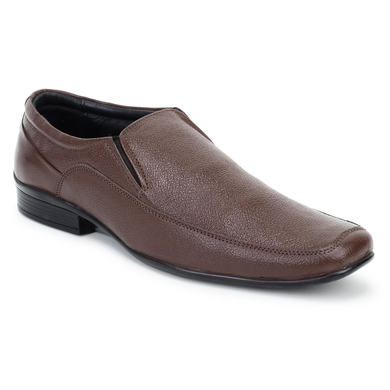 Kosher Leather Brown Slipon Men