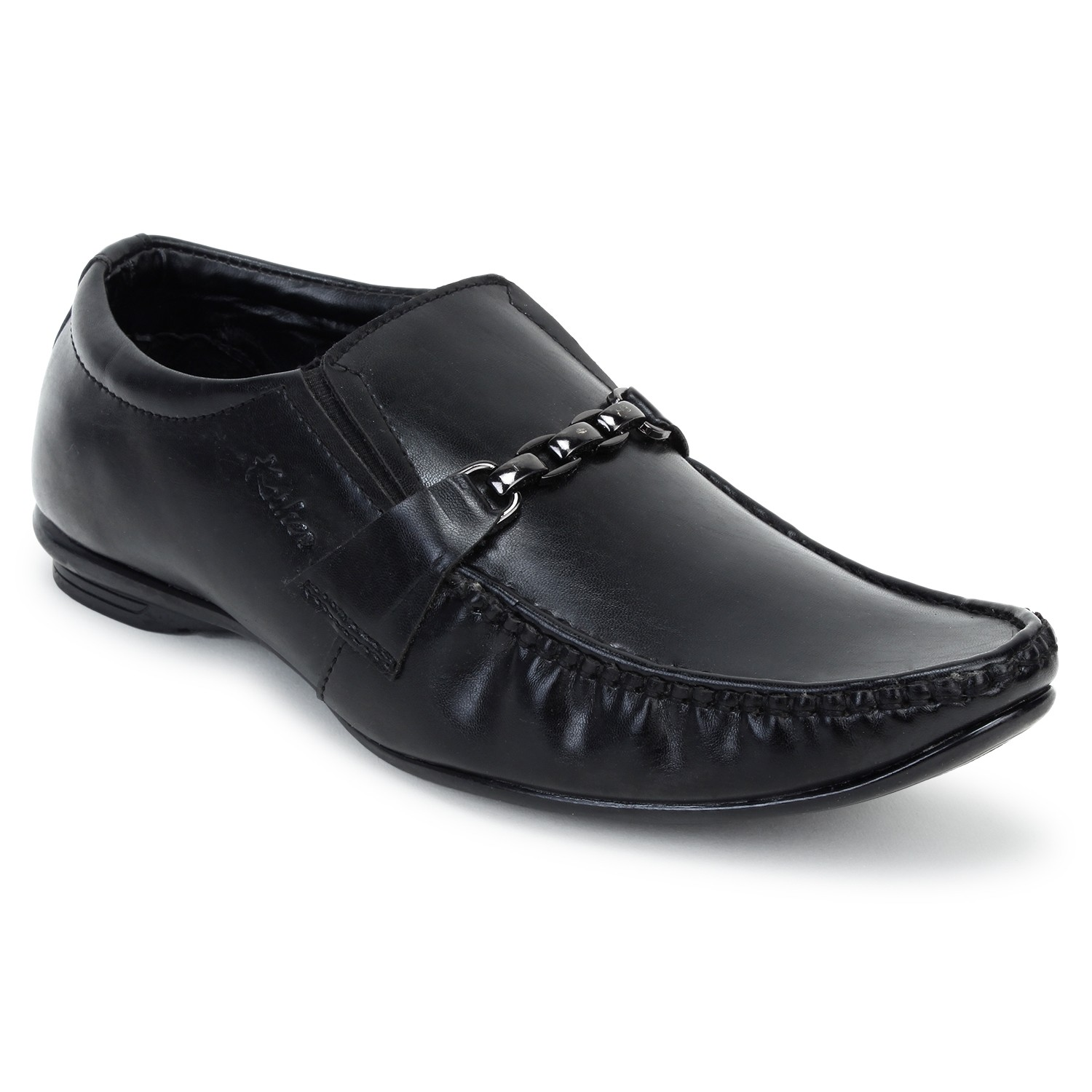 Kosher Leatherite Black Slipon Men