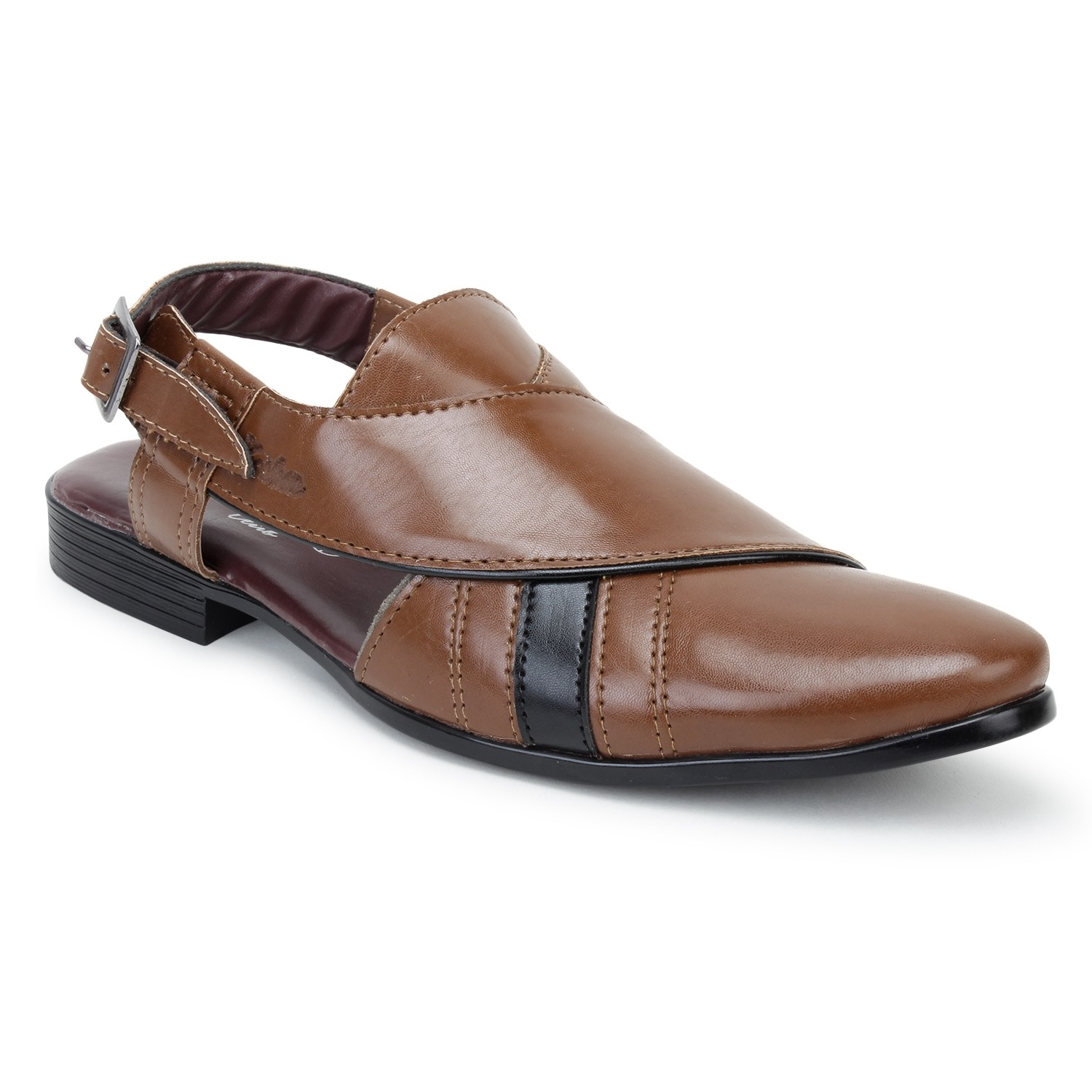 Kosher Leatherite Tan Slipon Men