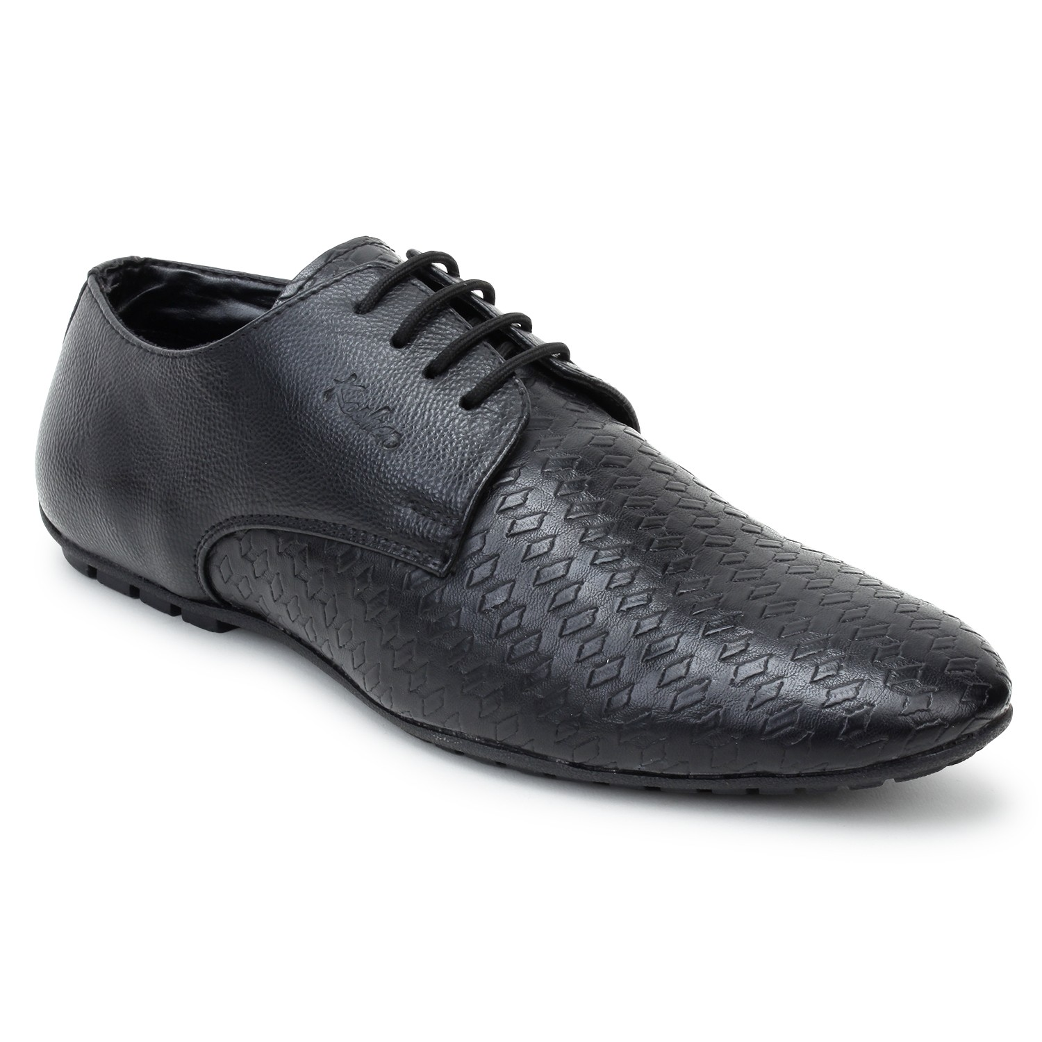 Kosher Leatherite Black Shoe Men