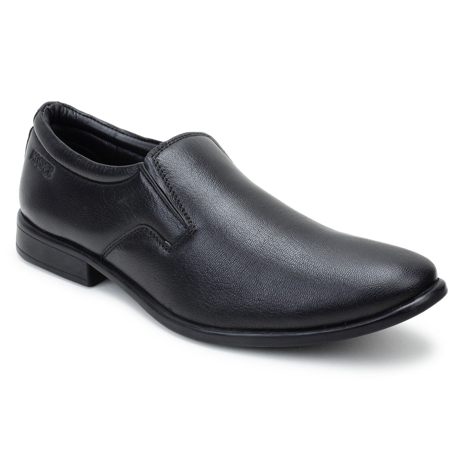 Kosher Leather Black Slipon Men