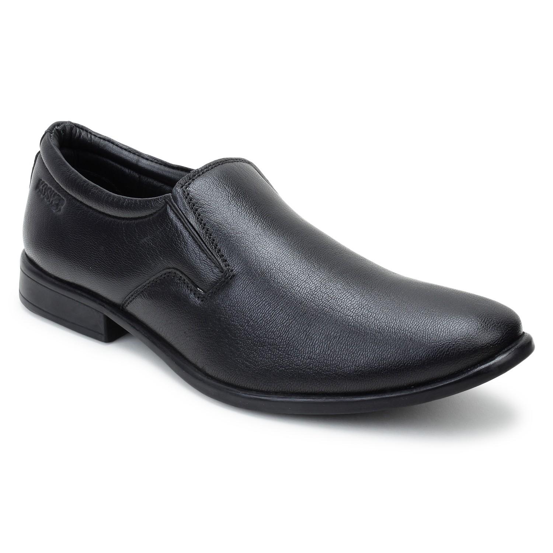 Kosher Leather Black Slipon Men