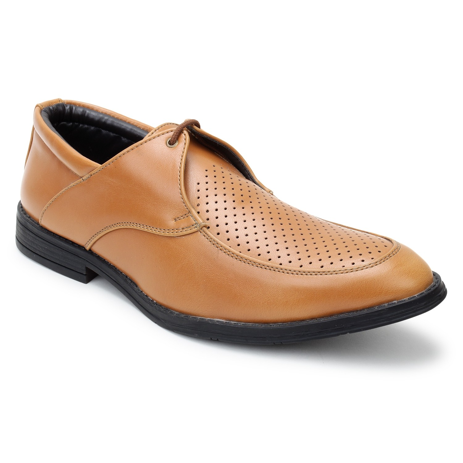 Kosher Leatherite Tan Shoe Men