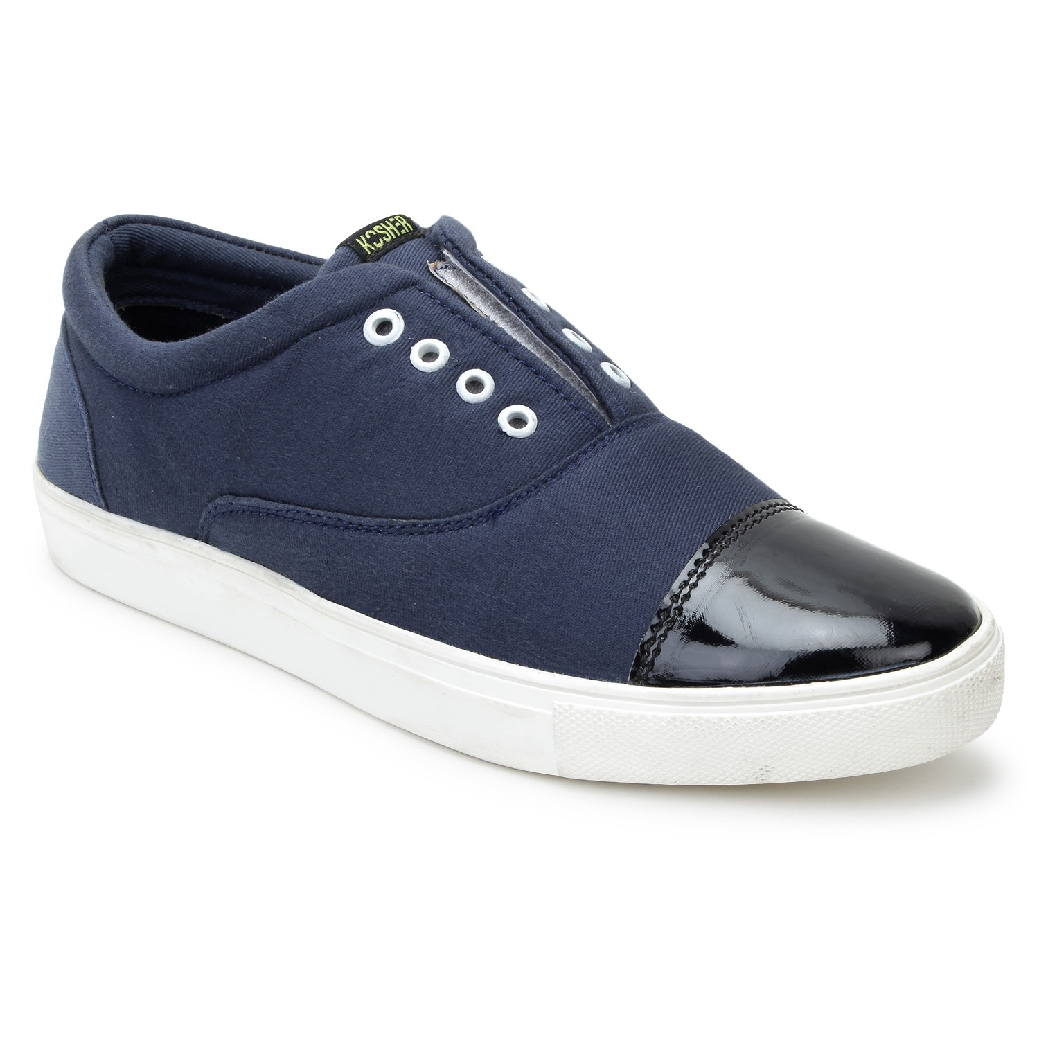 Kosher Fabric Blue Shoe Men