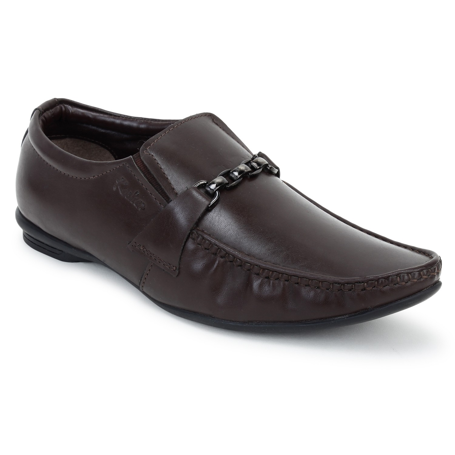 Kosher Leatherite Brown Shoes Men