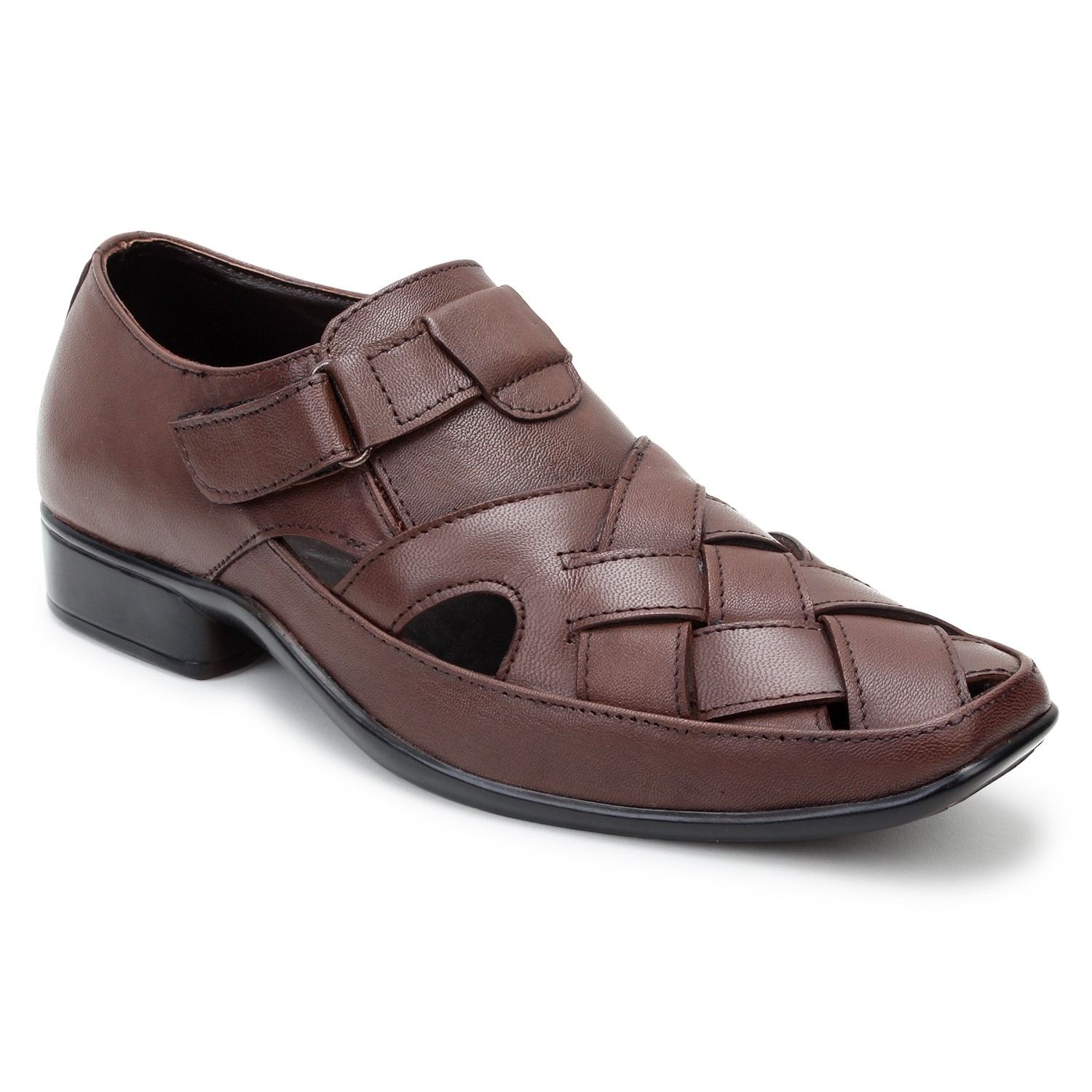 Kosher Leather Brown Slipon Men